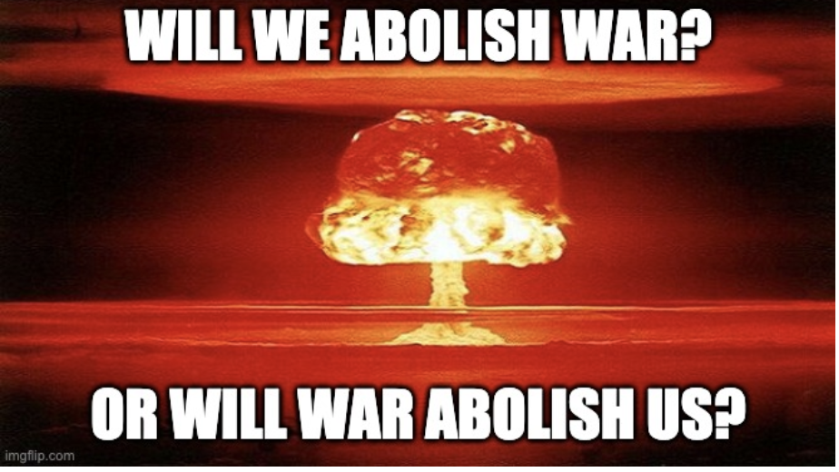 Abolish War with Atom Bomb Image